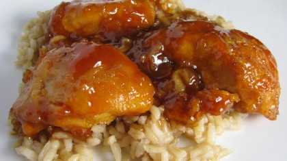 chicken-with-ketchup-With-rice